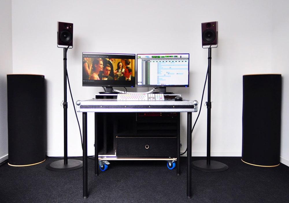 Studio Nomade: poste de montage son mobile